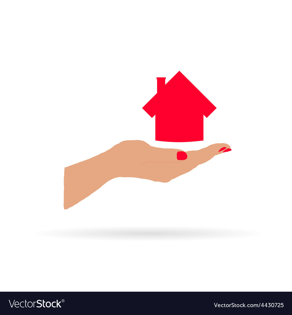 House in hand vector | Price: 1 Credit (USD $1)