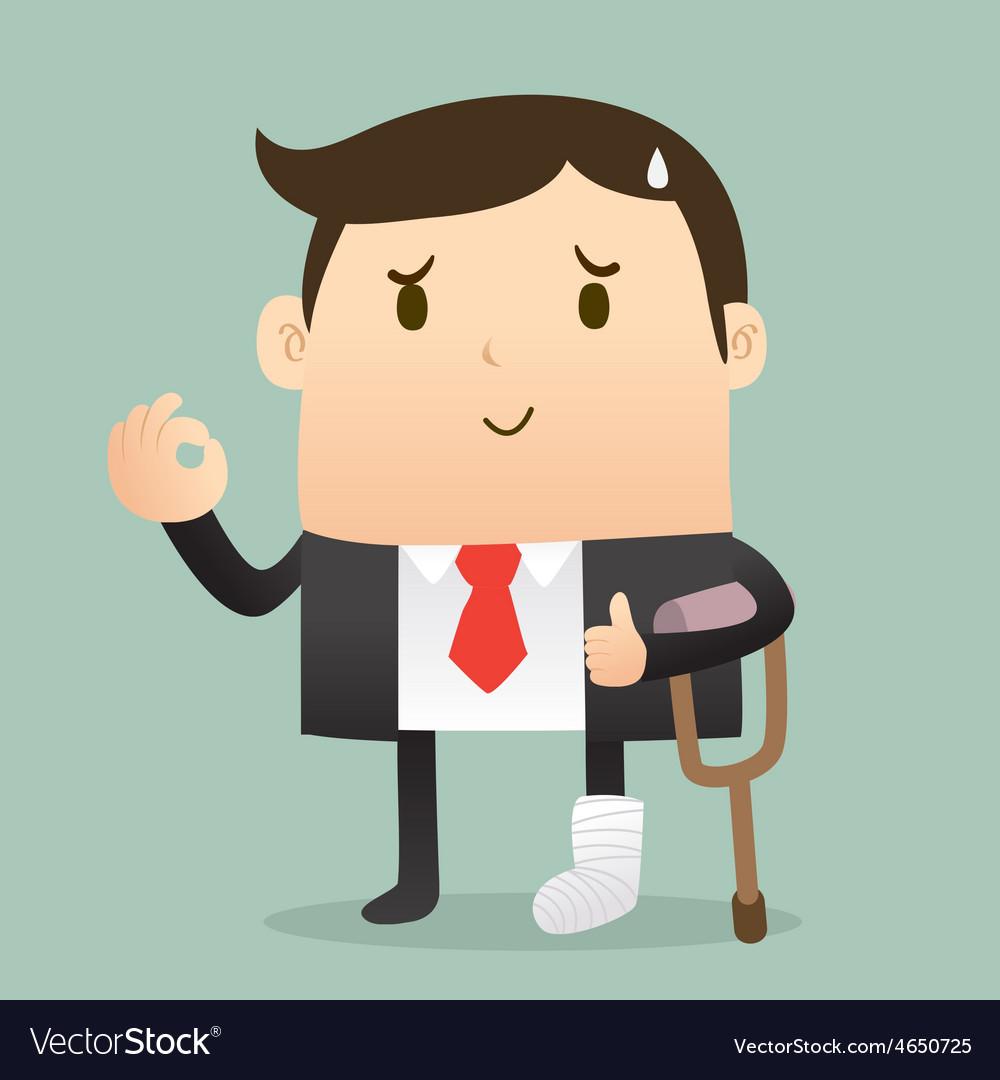 Injured businessman vector | Price: 1 Credit (USD $1)
