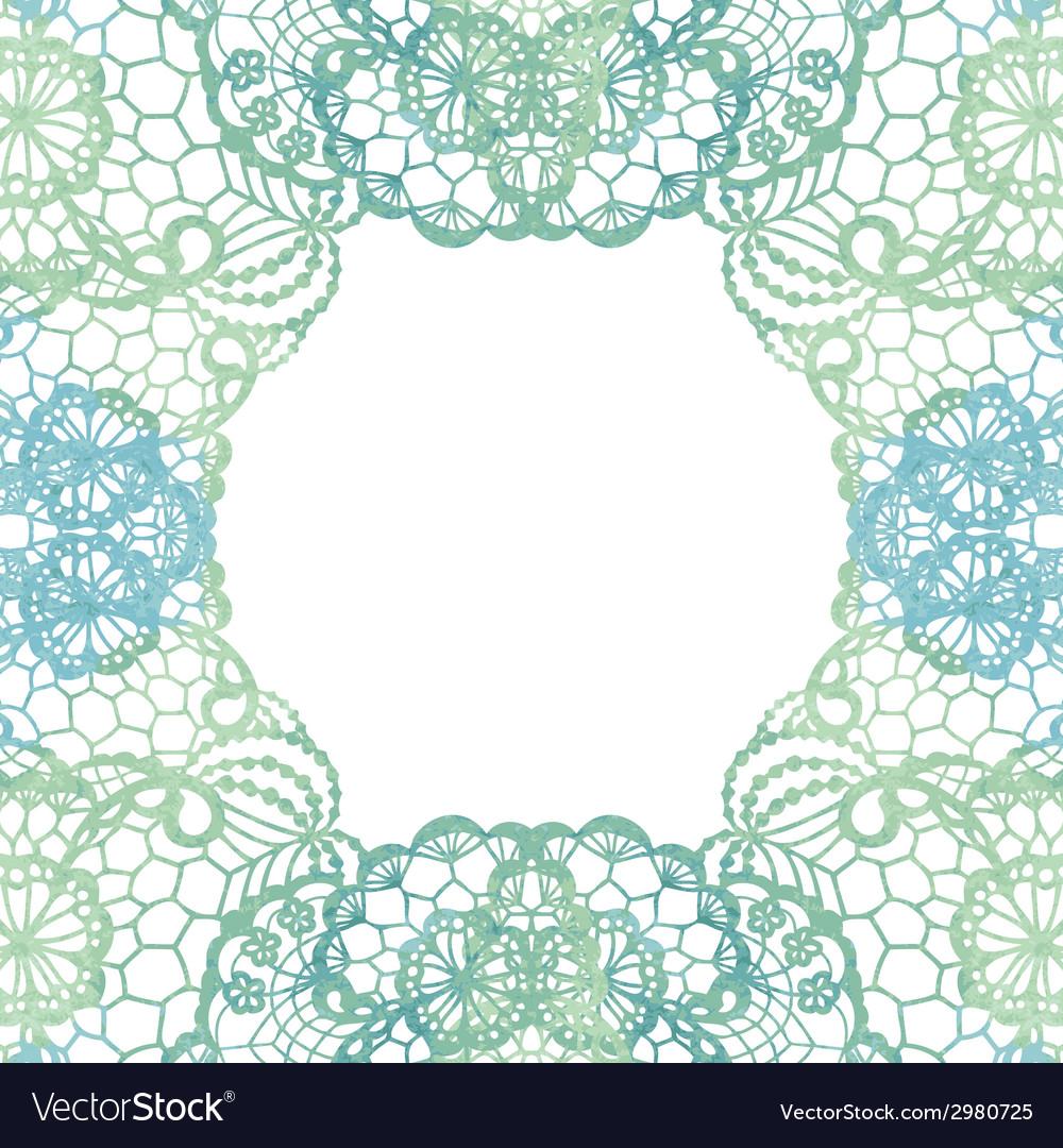 Lacy elegant frame invitation card vector | Price: 1 Credit (USD $1)