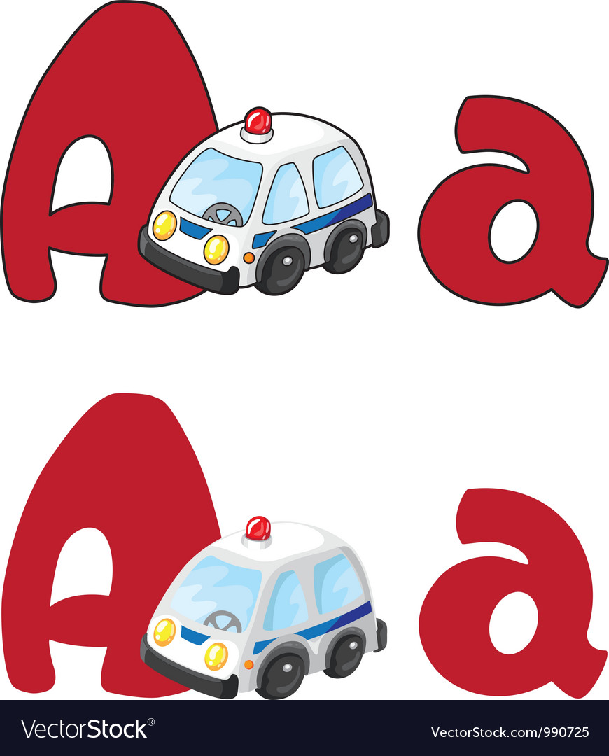 Letter a ambulance vector | Price: 3 Credit (USD $3)