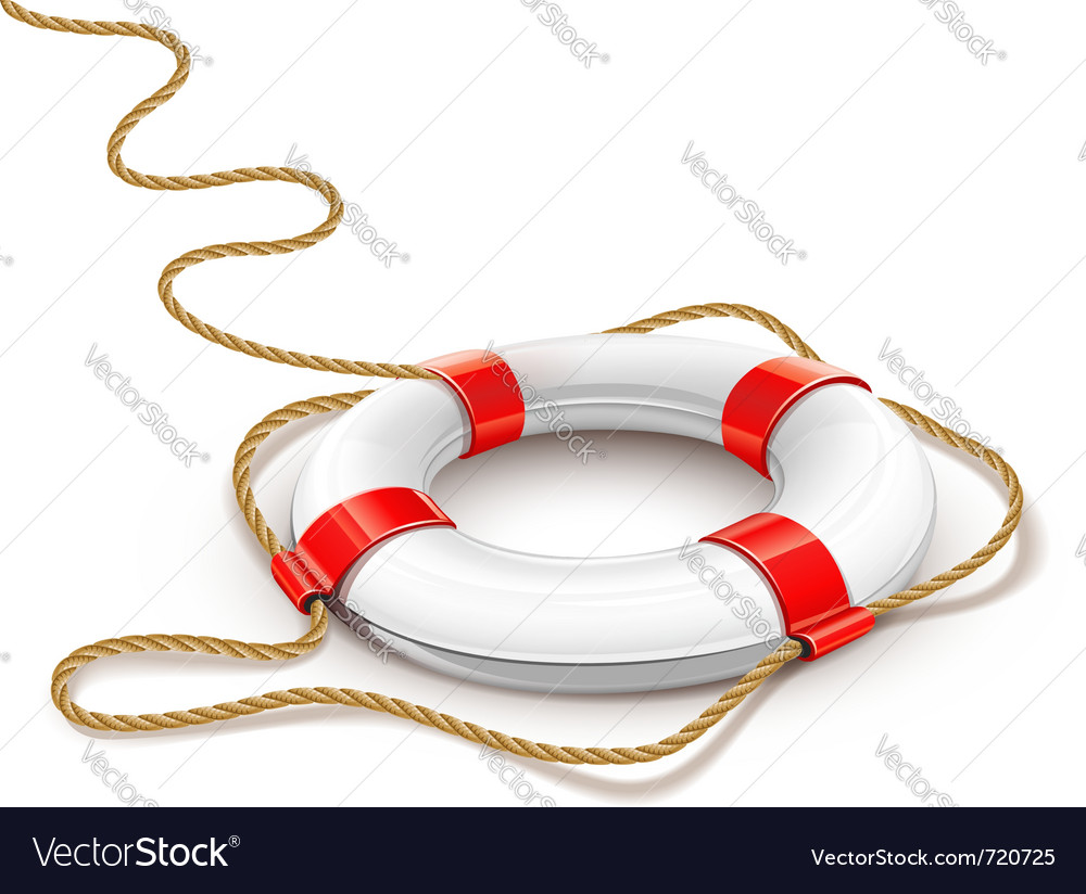 Rescue ring for quick help vector | Price: 3 Credit (USD $3)