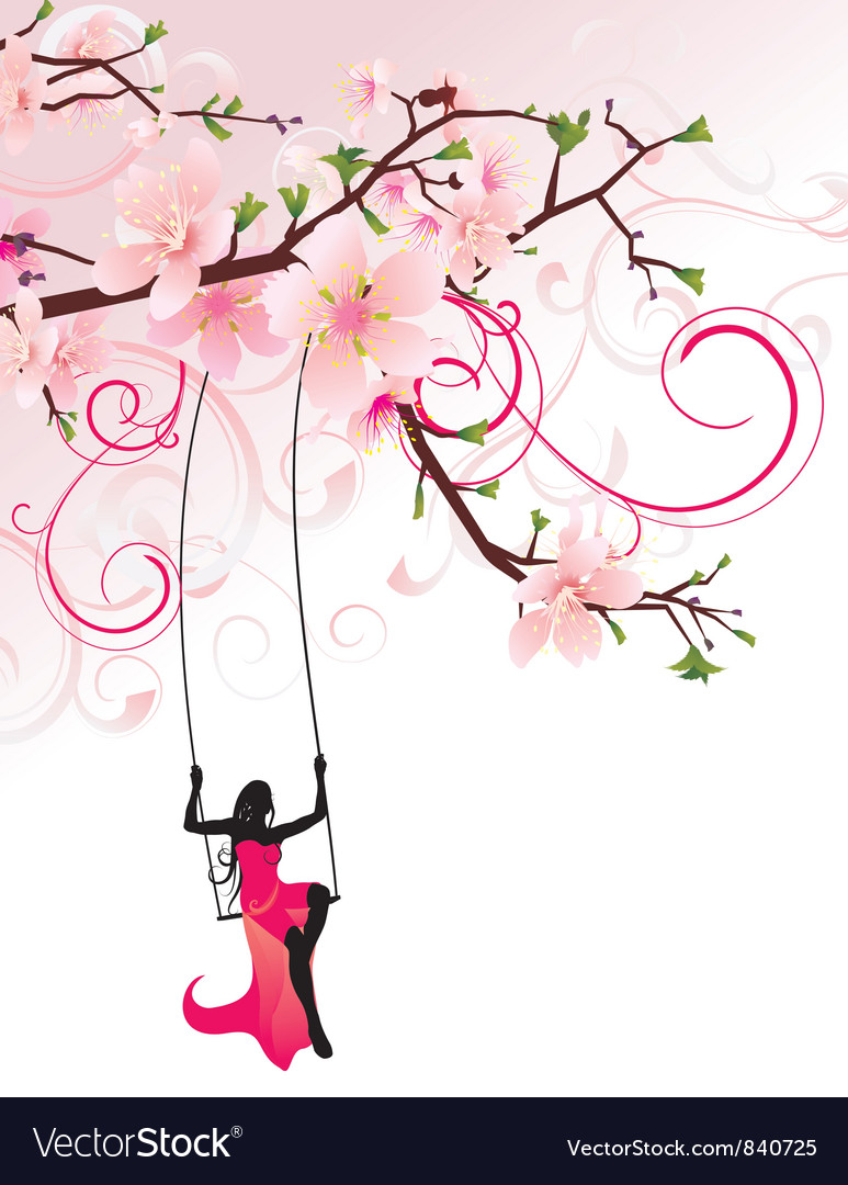 Sakura swing converted vector | Price: 1 Credit (USD $1)