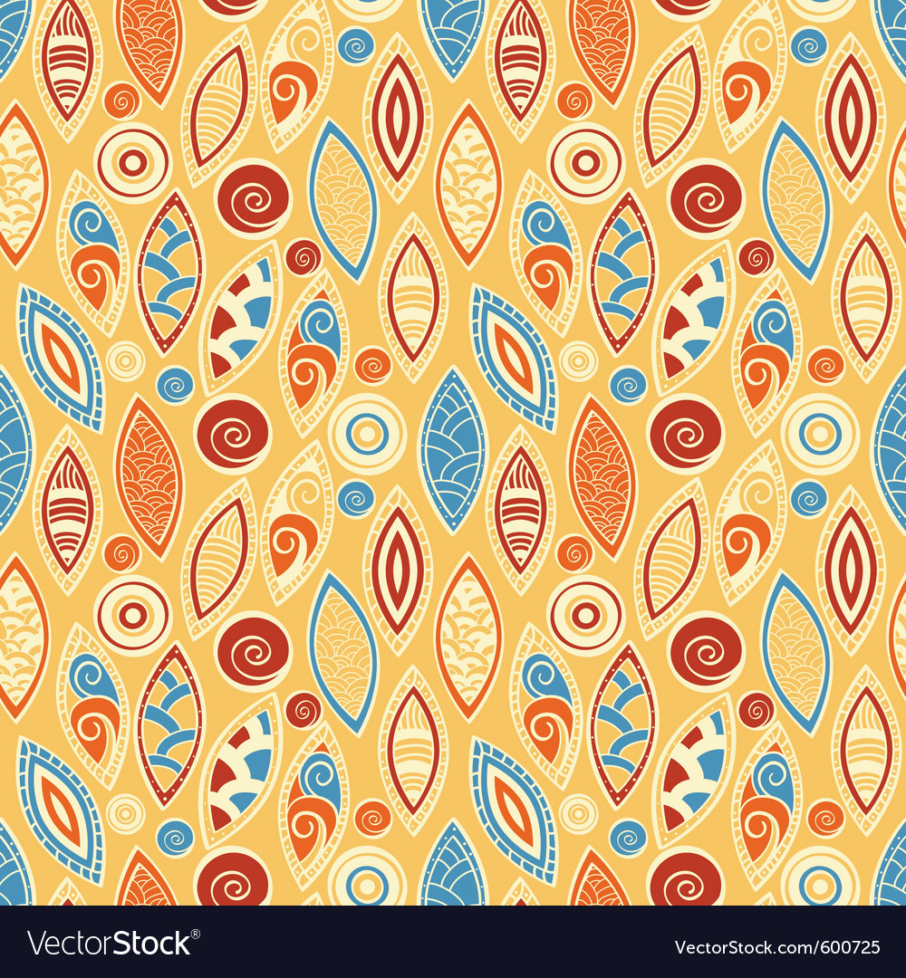 Seamless background in ethnic style clipping mask vector | Price: 1 Credit (USD $1)
