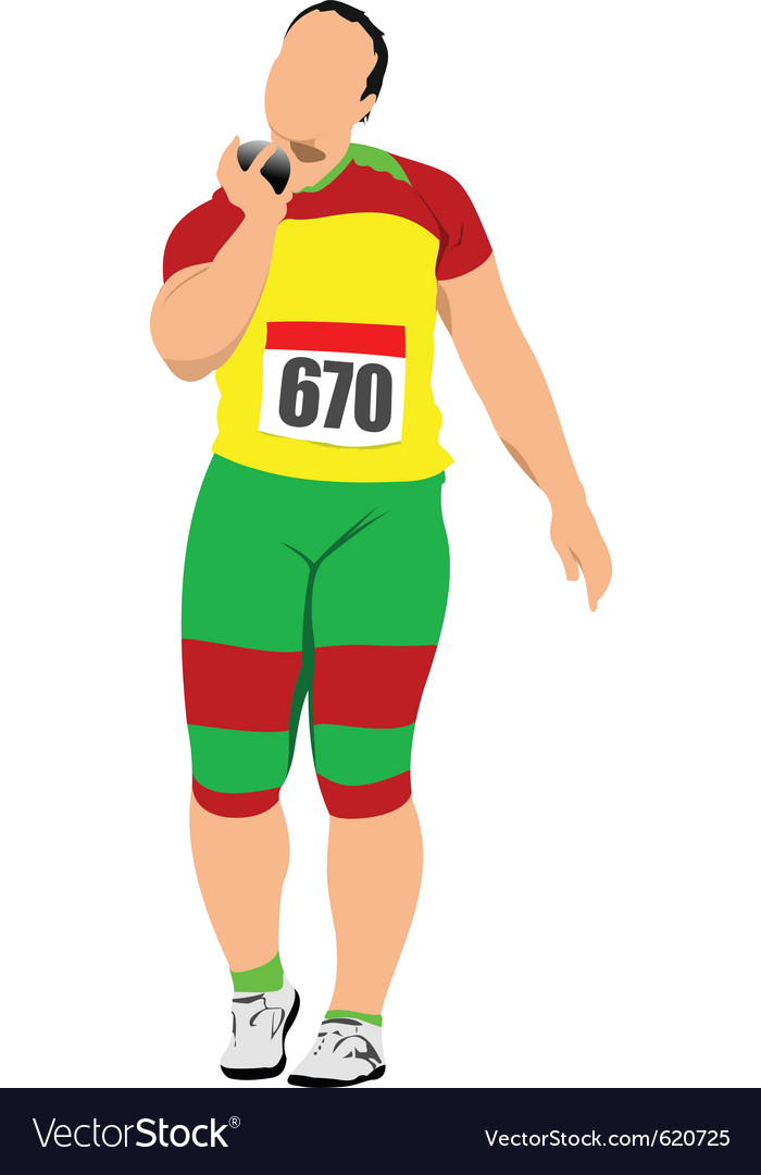 Shot putter vector | Price: 1 Credit (USD $1)