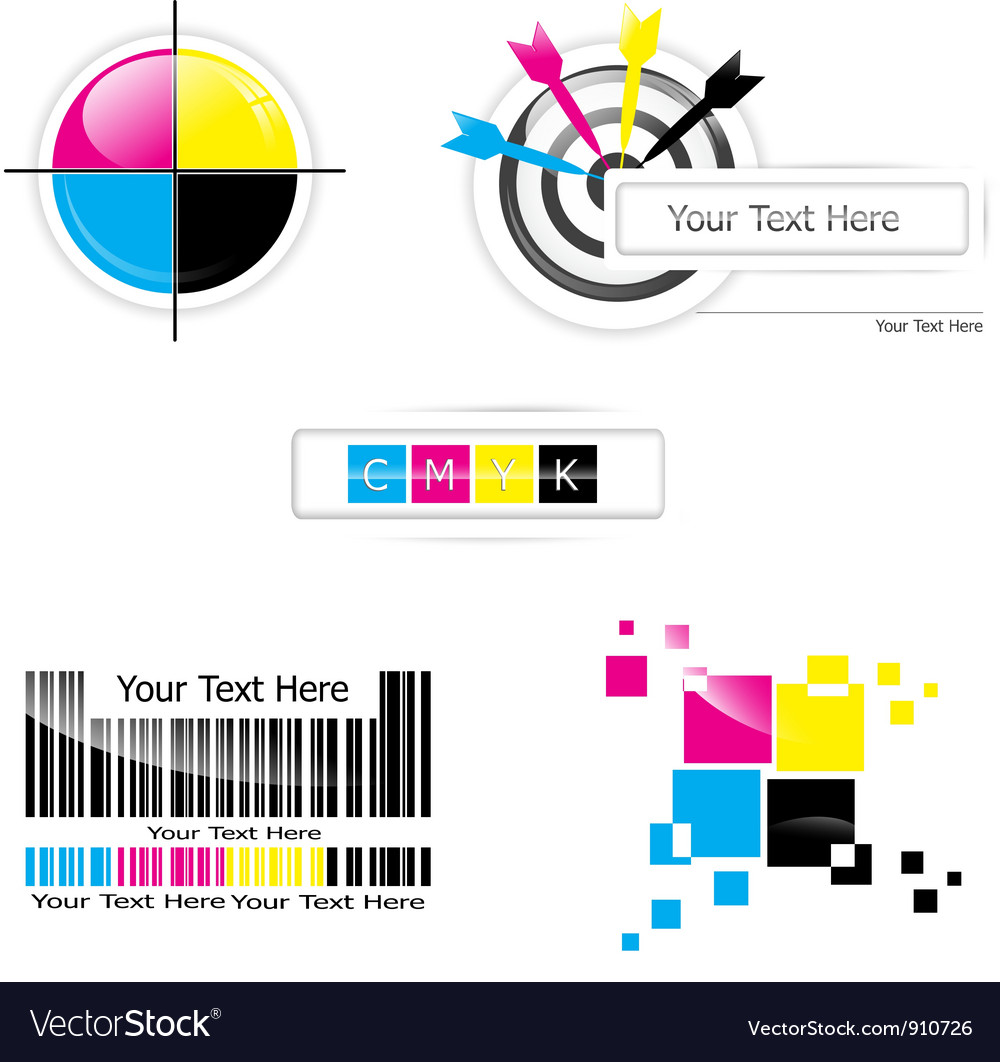 Cmyk design vector | Price: 1 Credit (USD $1)