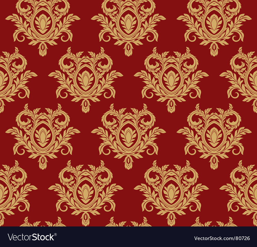 Damask floral background vector | Price: 1 Credit (USD $1)