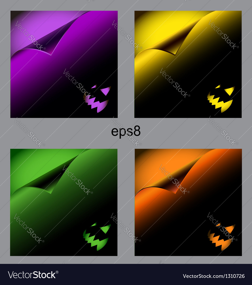 Dark halloween background curl paper vector | Price: 1 Credit (USD $1)
