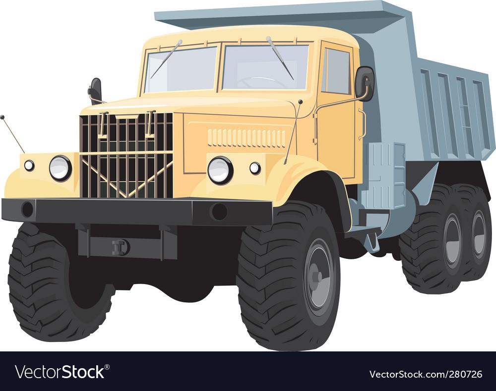 Dump truck vector | Price: 3 Credit (USD $3)