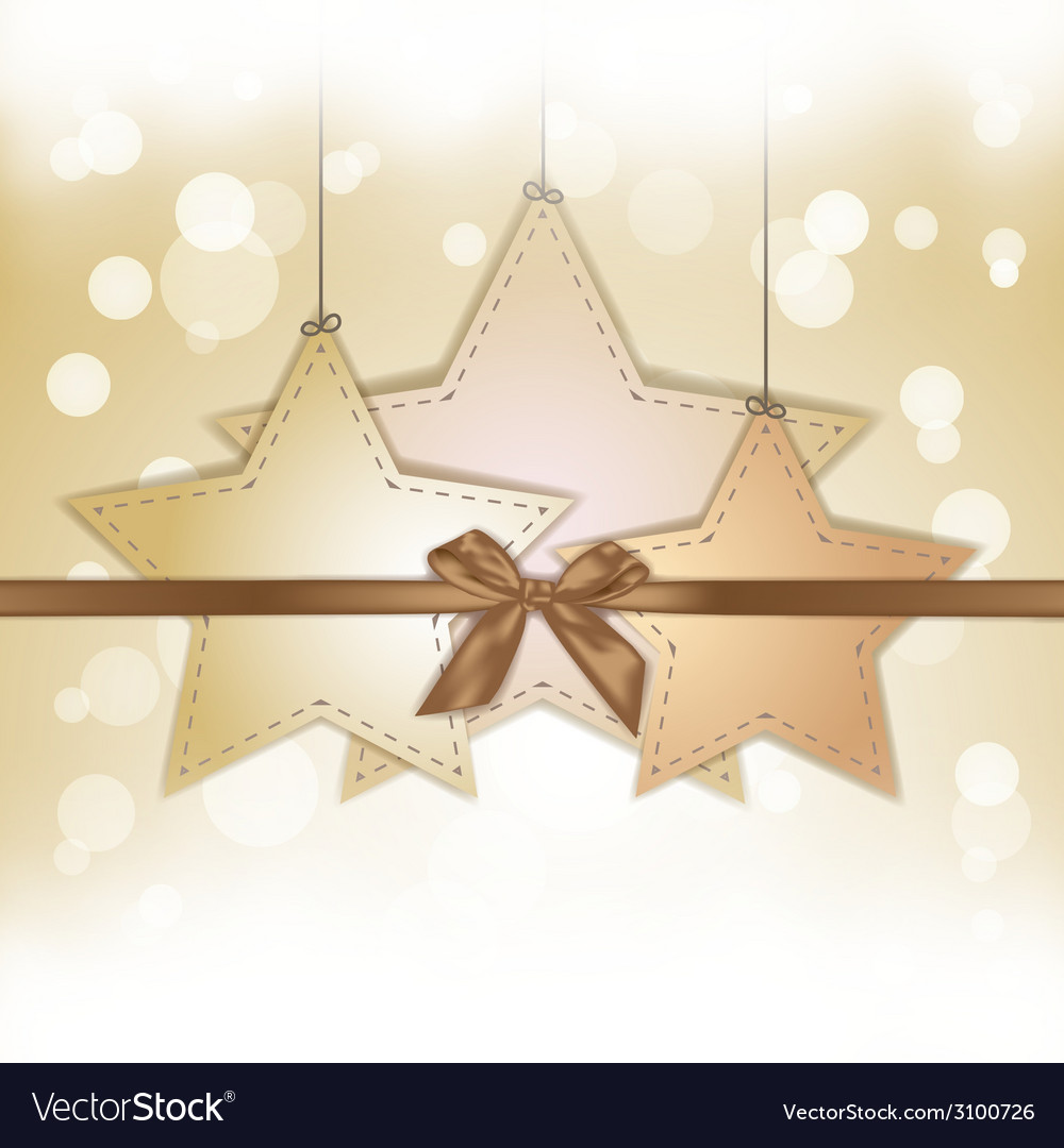 Golden star gift card with copy space vector   Price: 1 Credit (USD $1)