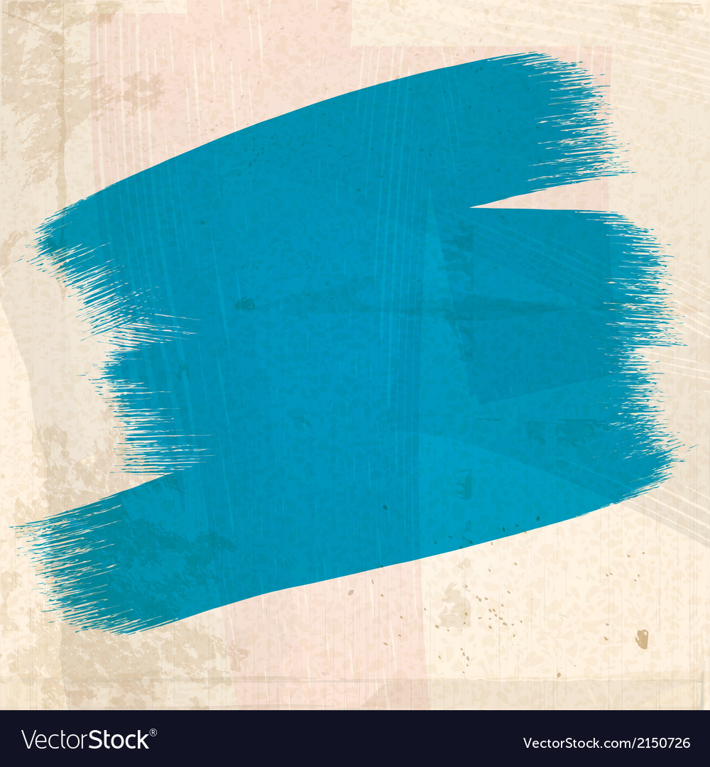 Grungy blue paint strokes vector | Price: 1 Credit (USD $1)