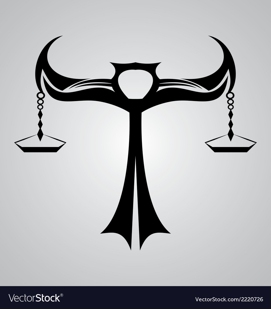 Libra signs tribal vector | Price: 1 Credit (USD $1)