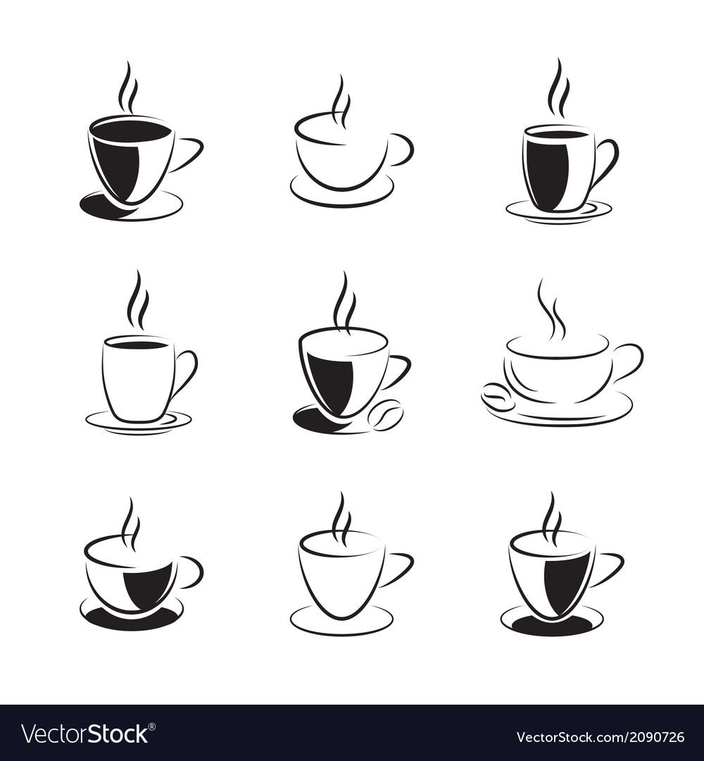 Set of coffee and tea vector | Price: 1 Credit (USD $1)