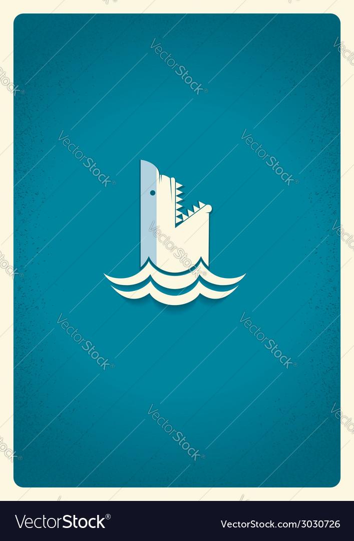 Shark logo blue symbol vector   Price: 1 Credit (USD $1)