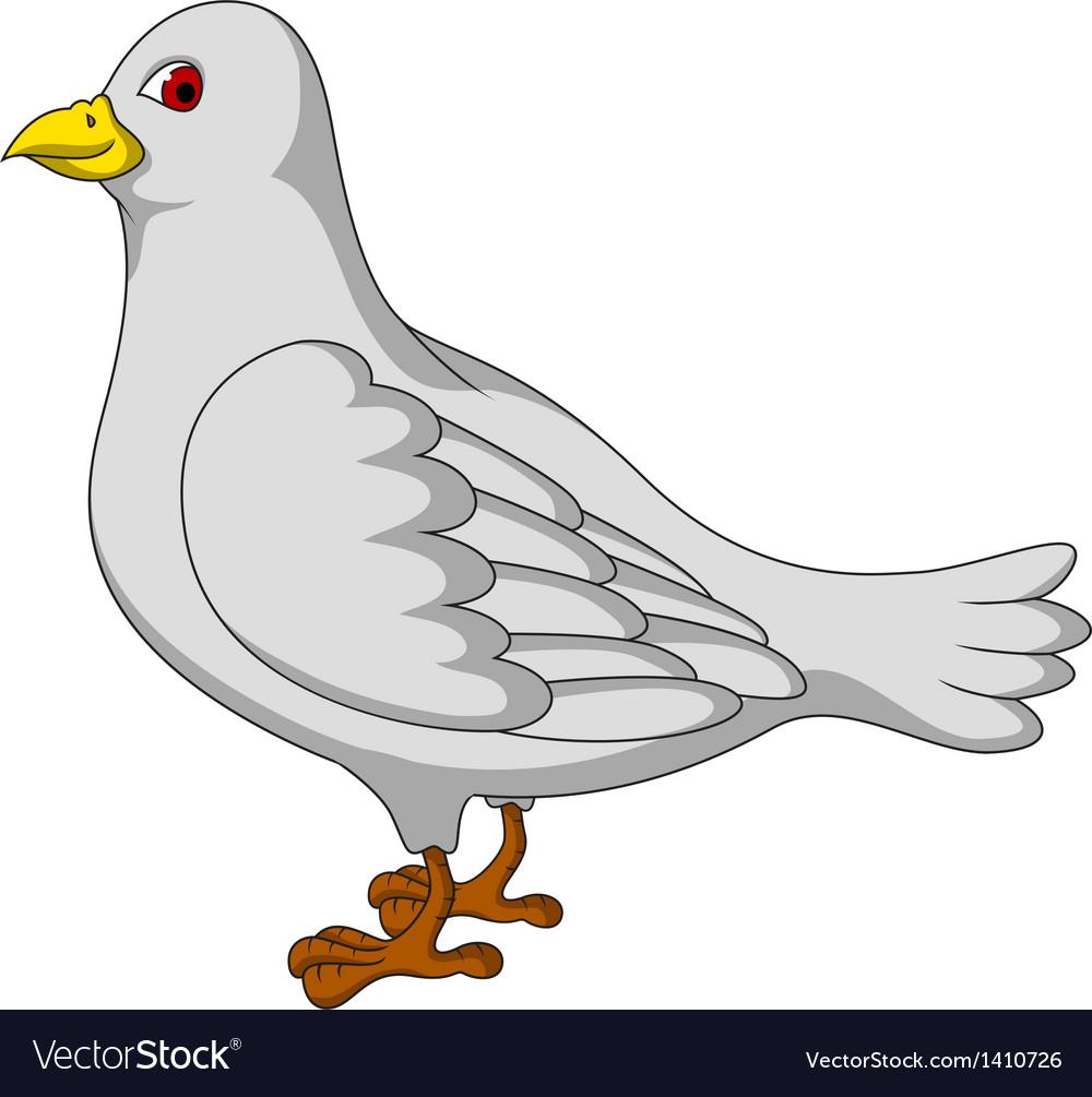 White dove cartoon vector | Price: 1 Credit (USD $1)