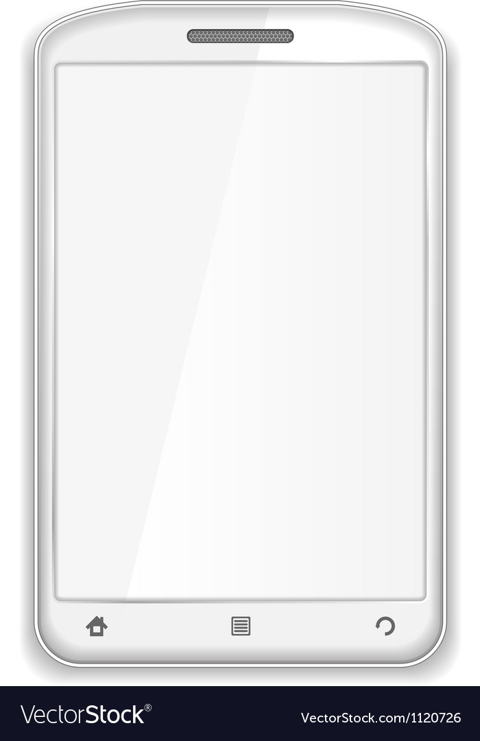 White smartphone vector | Price: 1 Credit (USD $1)