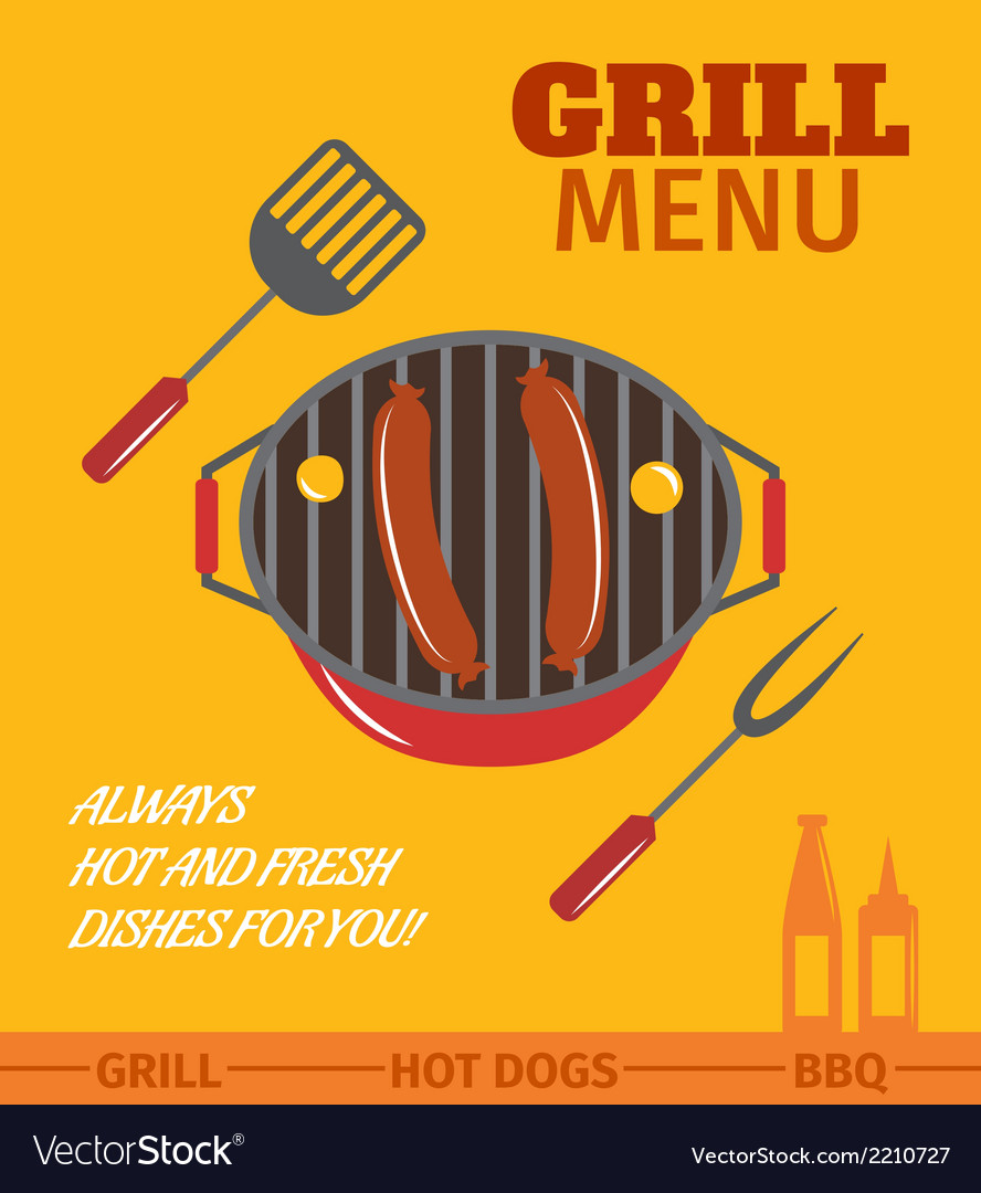Bbq grill poster vector | Price: 1 Credit (USD $1)