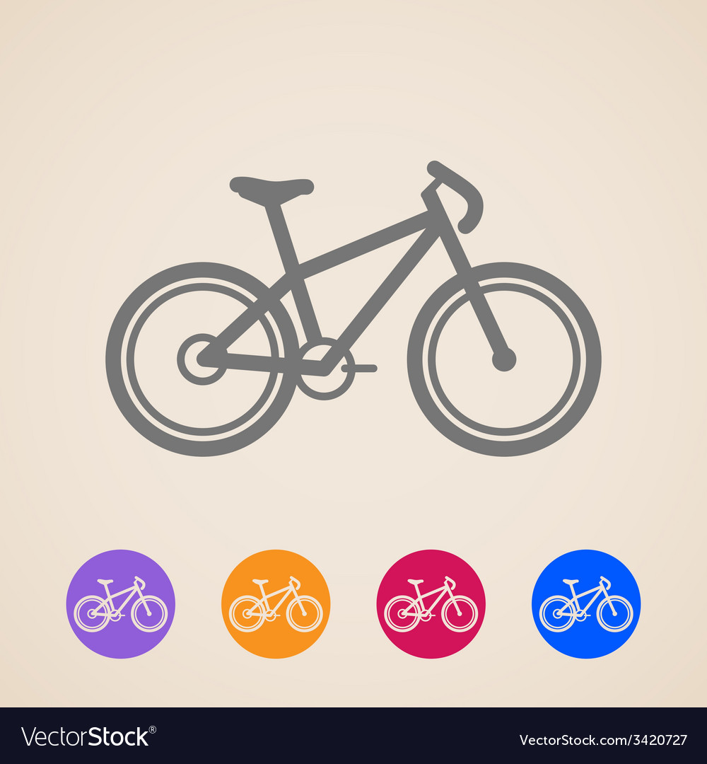 Bike icons vector | Price: 1 Credit (USD $1)
