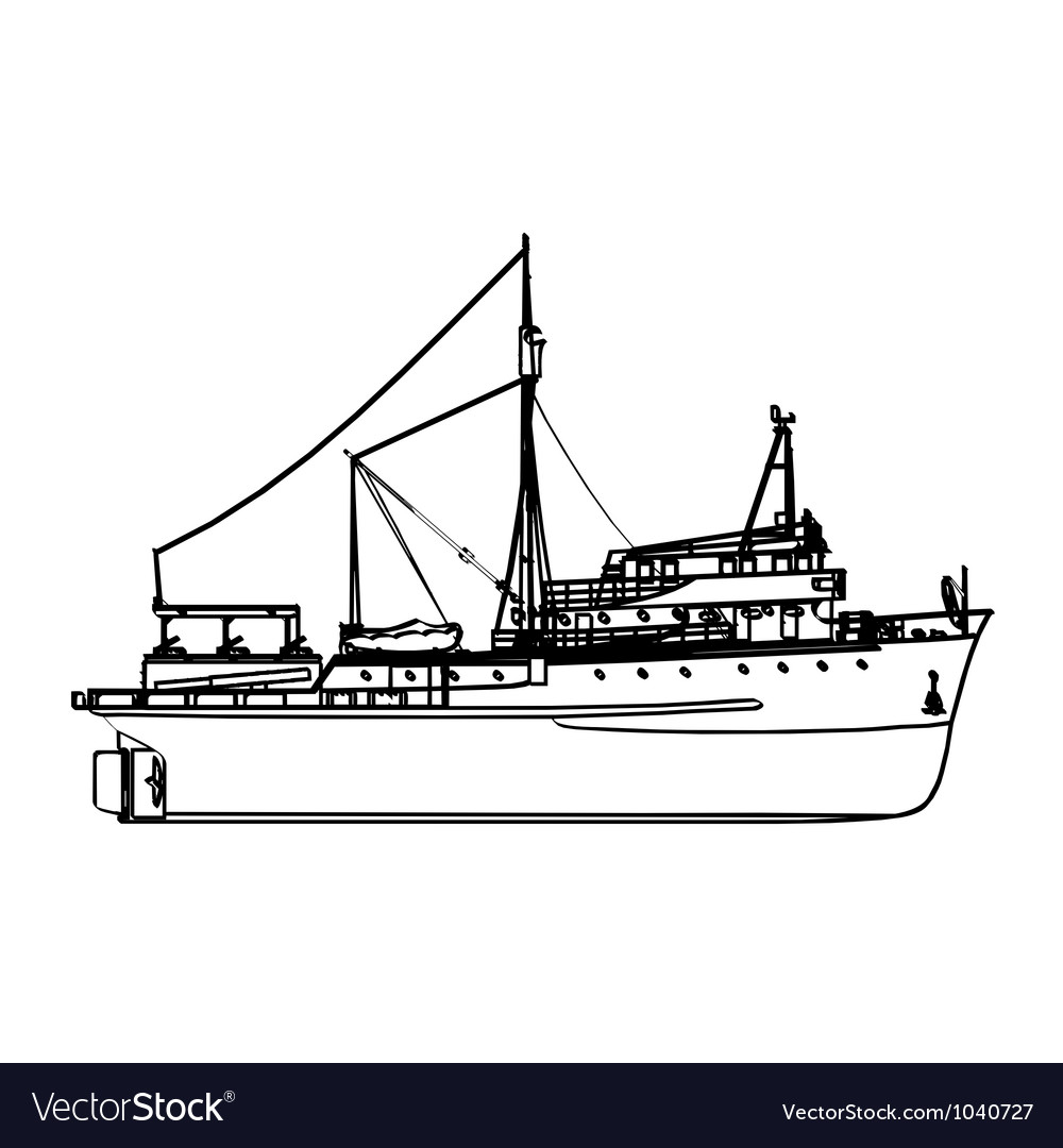Fishing boat vector | Price: 1 Credit (USD $1)