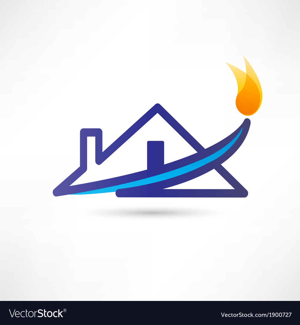Gas water house icon vector | Price: 1 Credit (USD $1)