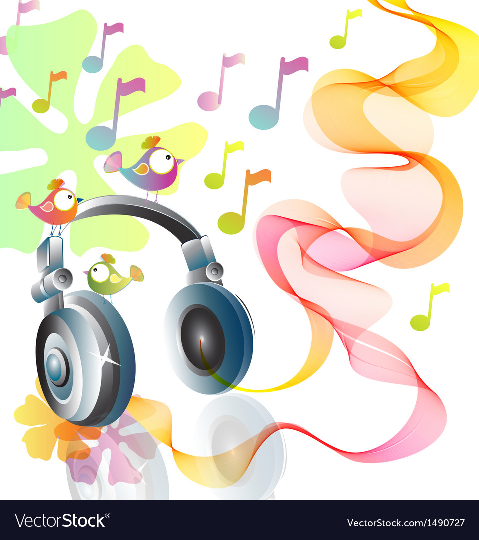 Headphones abstract vector | Price: 1 Credit (USD $1)