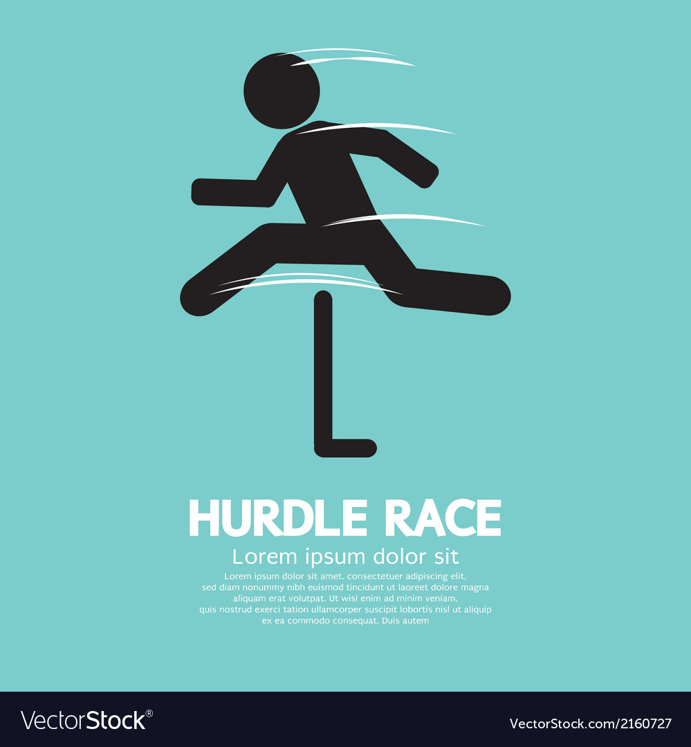 Hurdle race vector | Price: 1 Credit (USD $1)