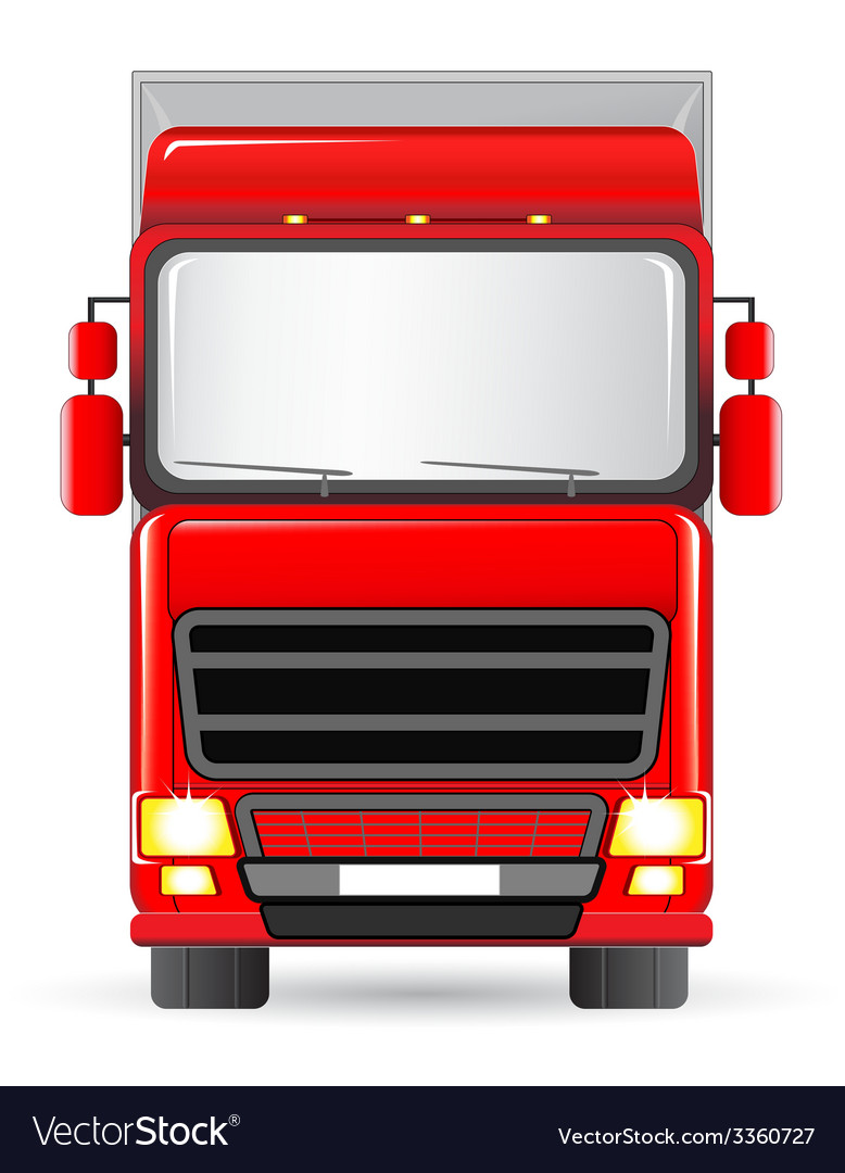 Isolated red truck vector | Price: 3 Credit (USD $3)