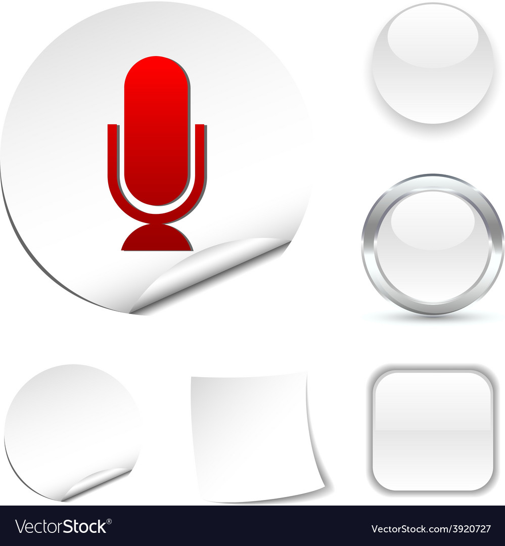Mic icon vector | Price: 1 Credit (USD $1)