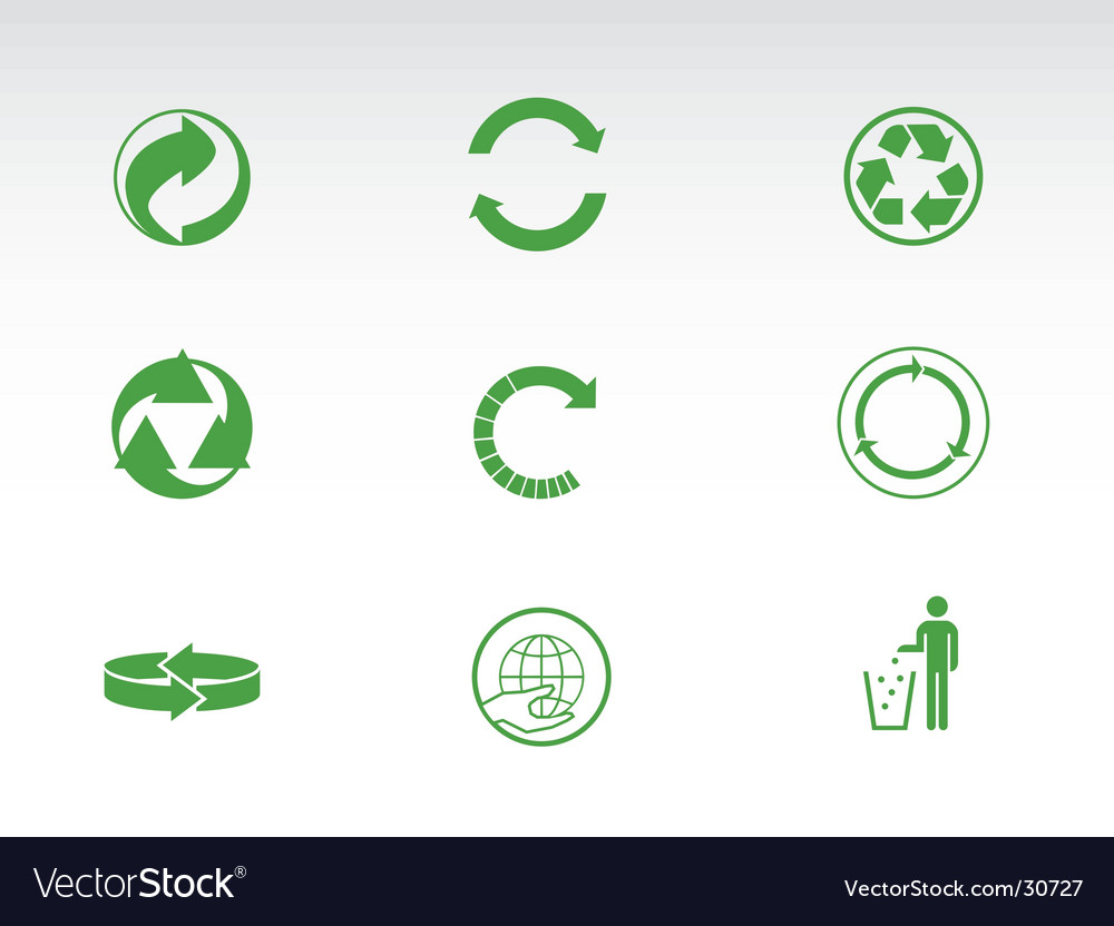 Recycling pictograms vector | Price: 1 Credit (USD $1)