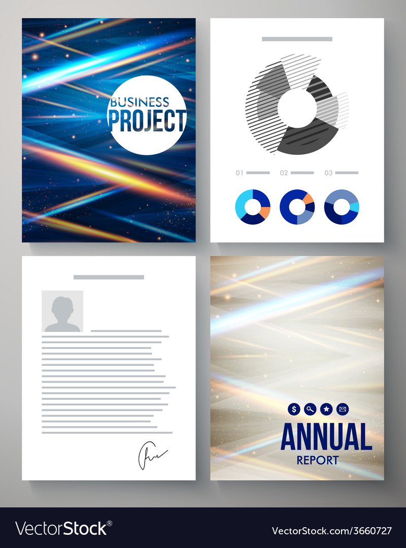 Template for a business project and report vector | Price: 1 Credit (USD $1)