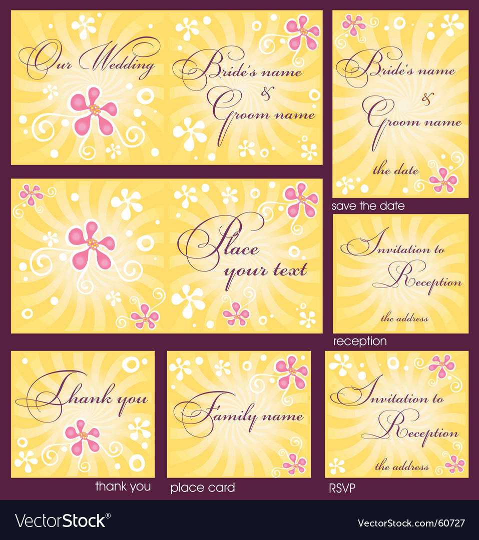Wedding reception card vector | Price: 1 Credit (USD $1)