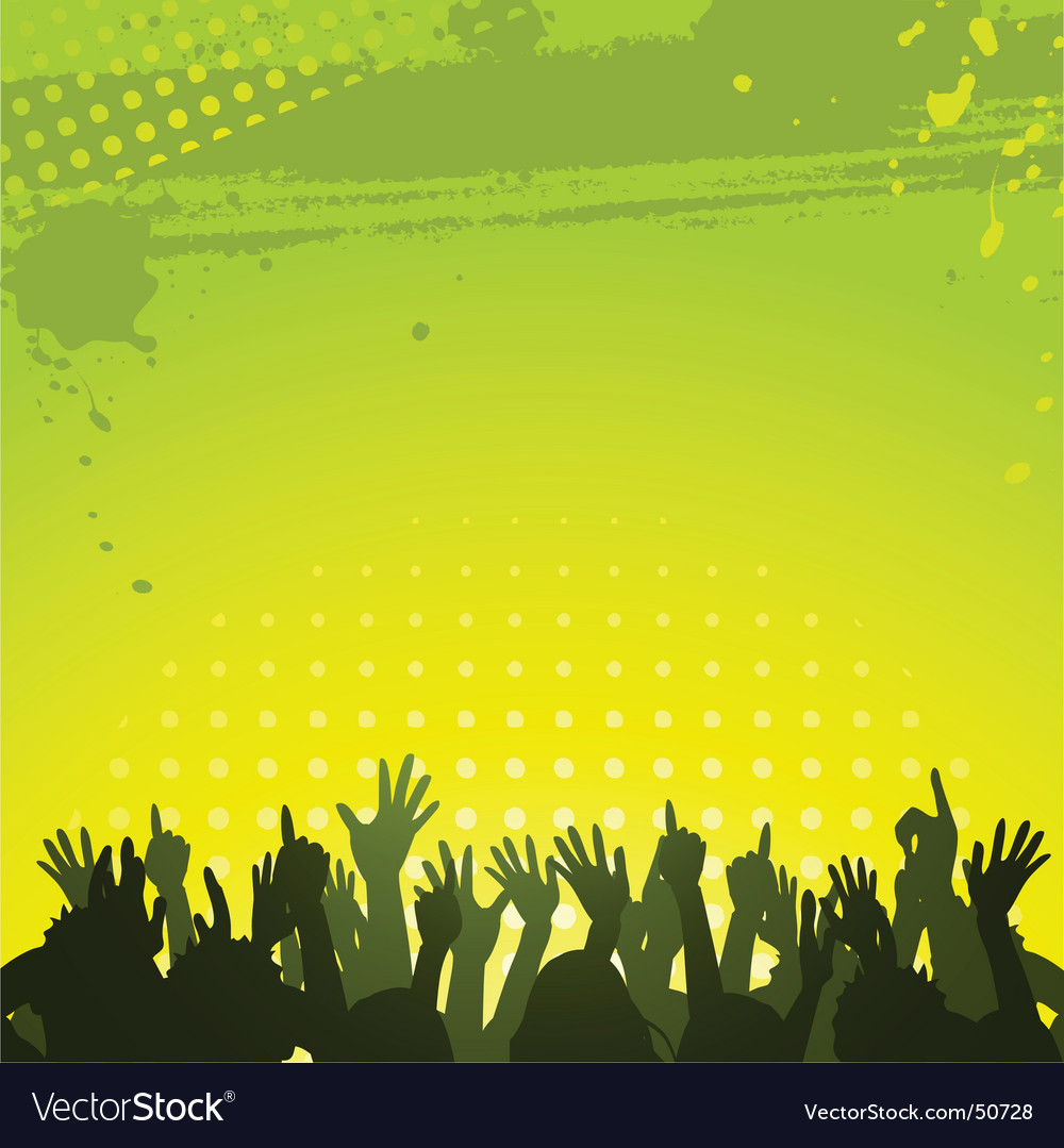 Abstract green background and crowd vector | Price: 1 Credit (USD $1)