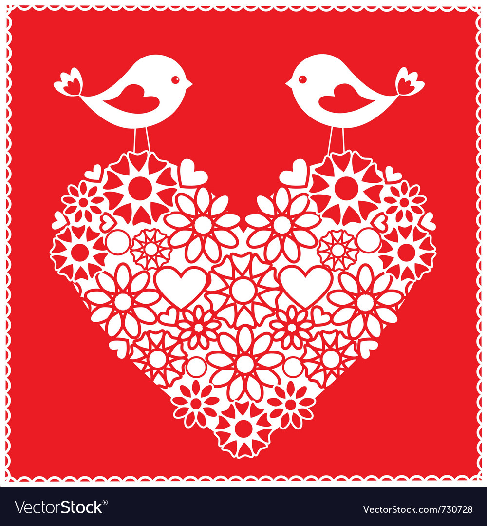 Birds for valentines day vector | Price: 1 Credit (USD $1)