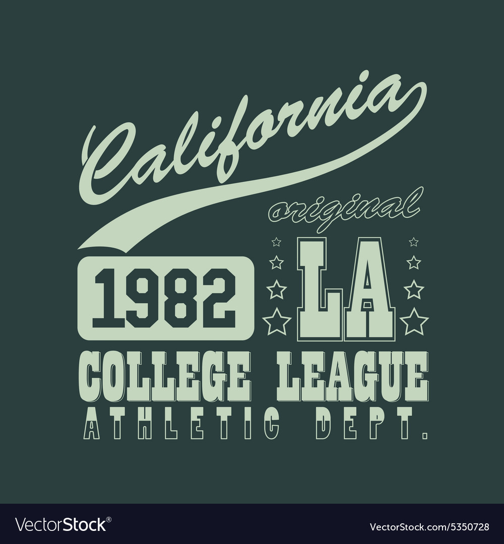California tshirt vector