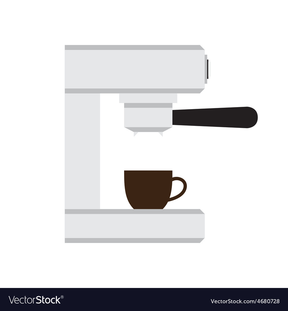 Coffee machine with cup in love heart illus vector   Price: 1 Credit (USD $1)