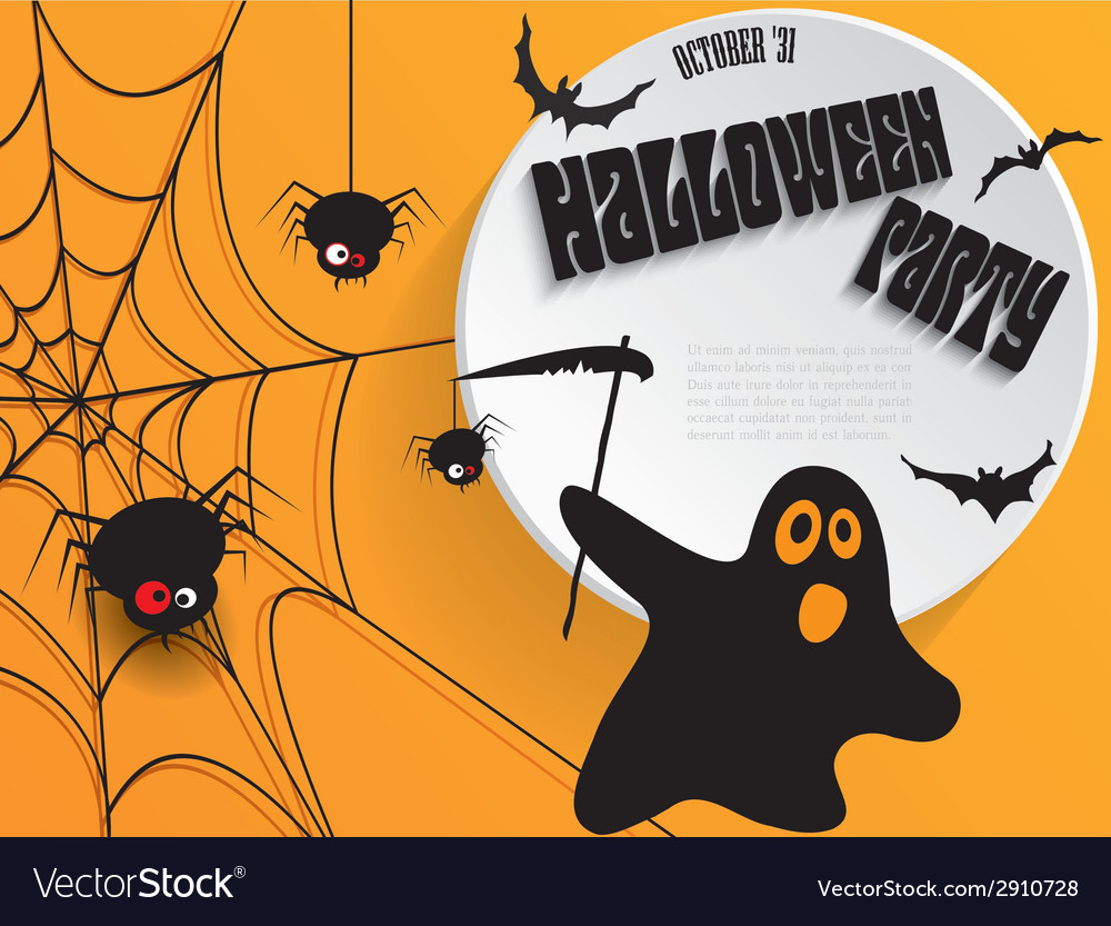 Creative halloween party poster with message vector | Price: 1 Credit (USD $1)
