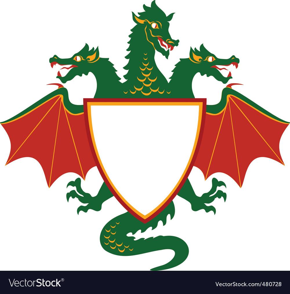 Dragon shield vector   Price: 1 Credit (USD $1)
