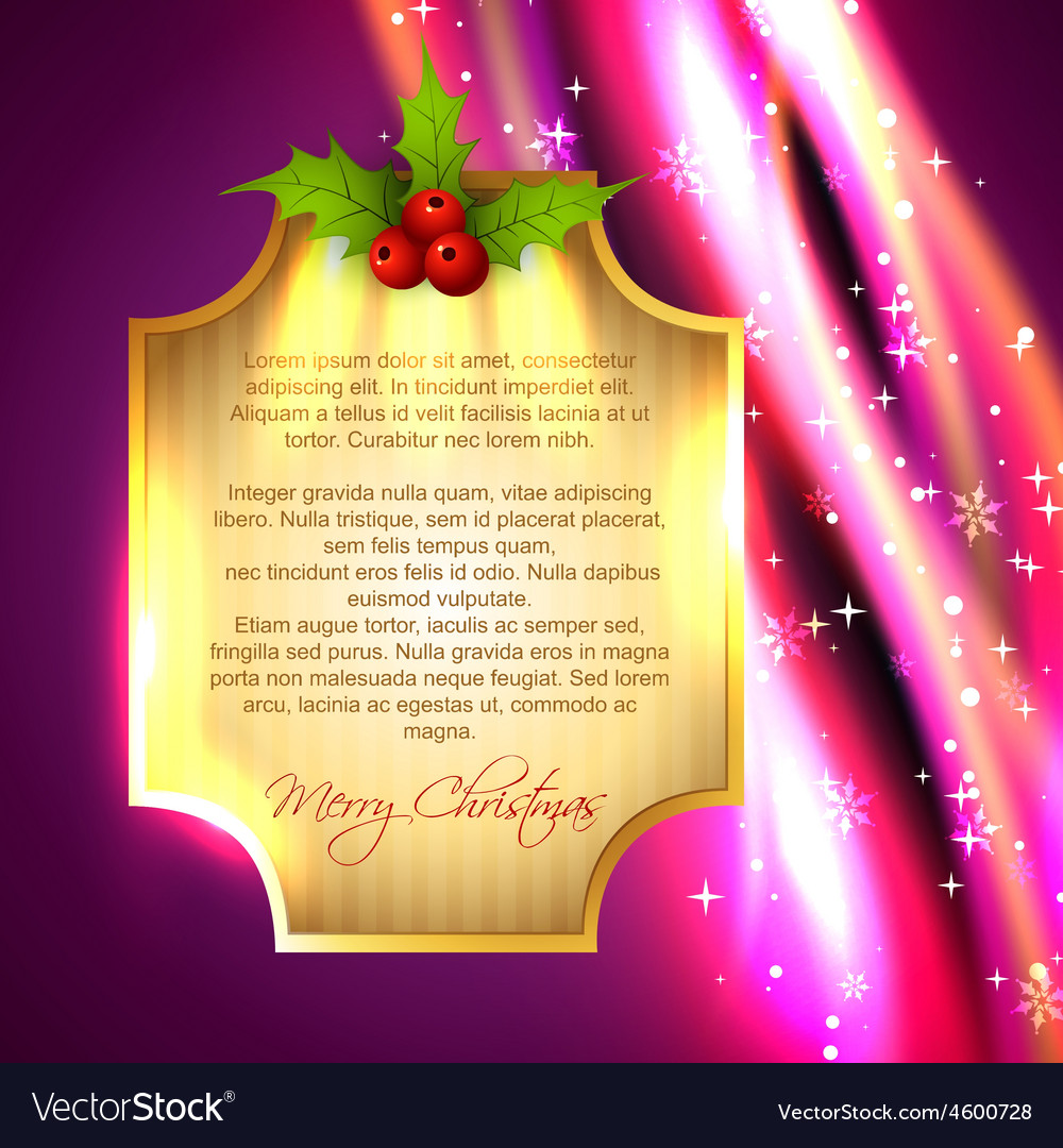 Glowing christmas background vector | Price: 3 Credit (USD $3)