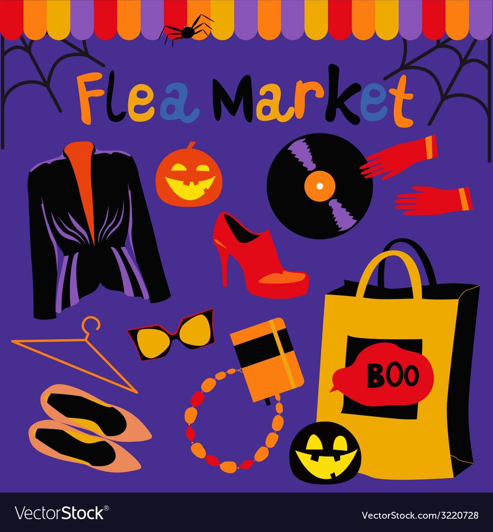 Halloween flea market vector | Price: 1 Credit (USD $1)