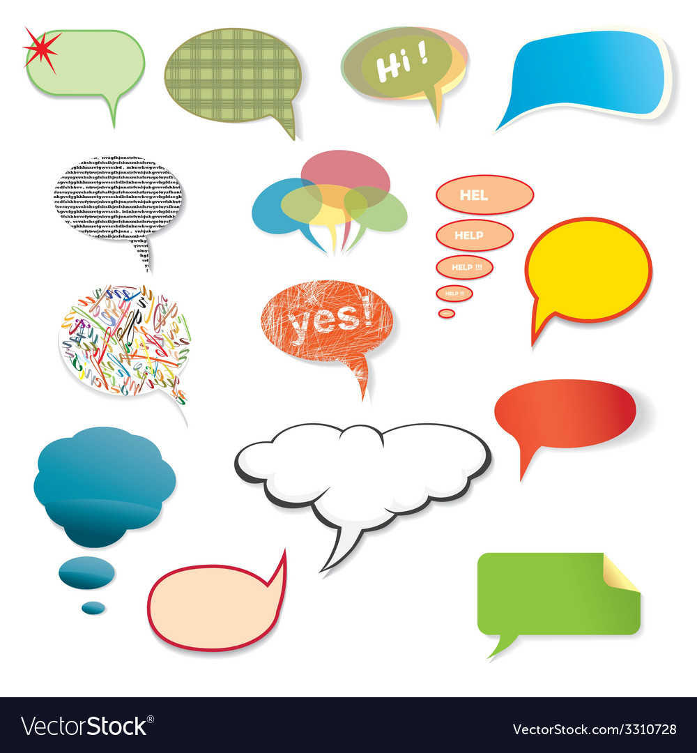 Original various speech bubbles on a white vector | Price: 1 Credit (USD $1)