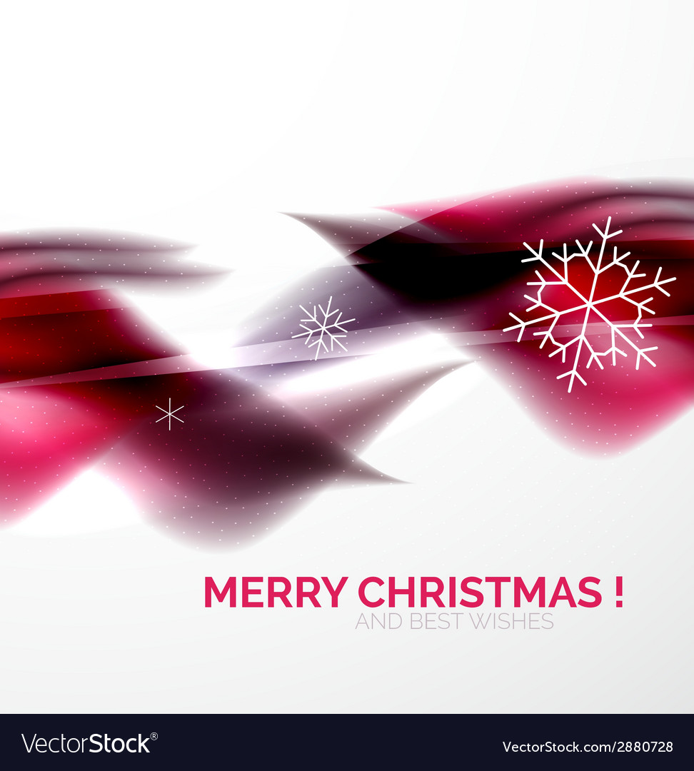 Pueple christmas blurred waves and snowflakes vector   Price: 1 Credit (USD $1)