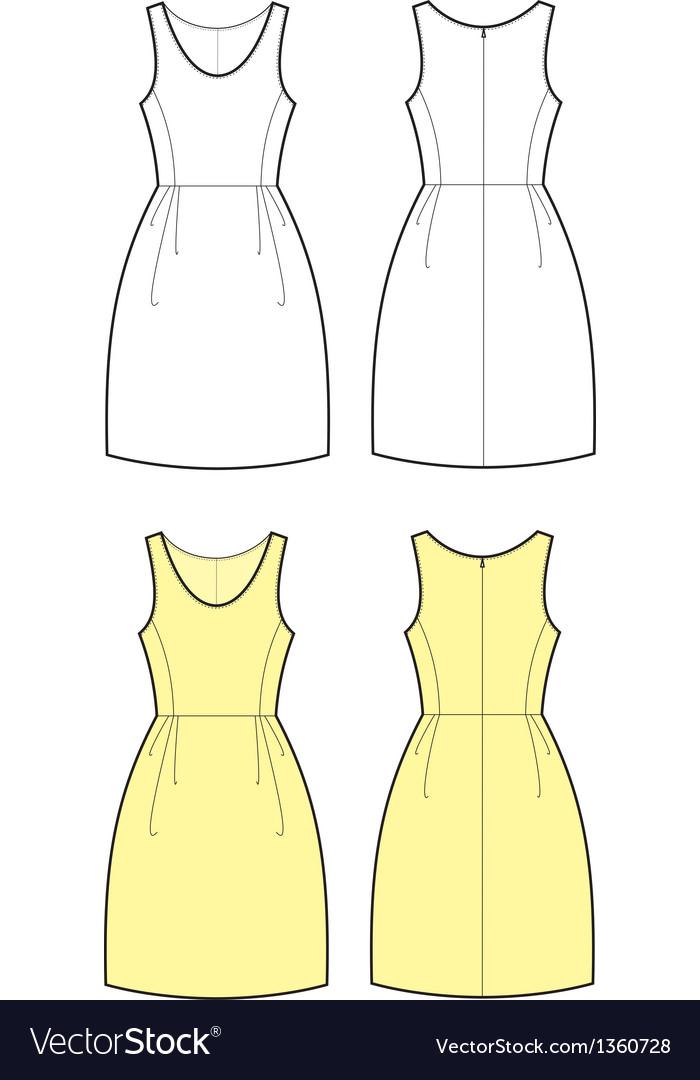 Romantic dress vector | Price: 1 Credit (USD $1)