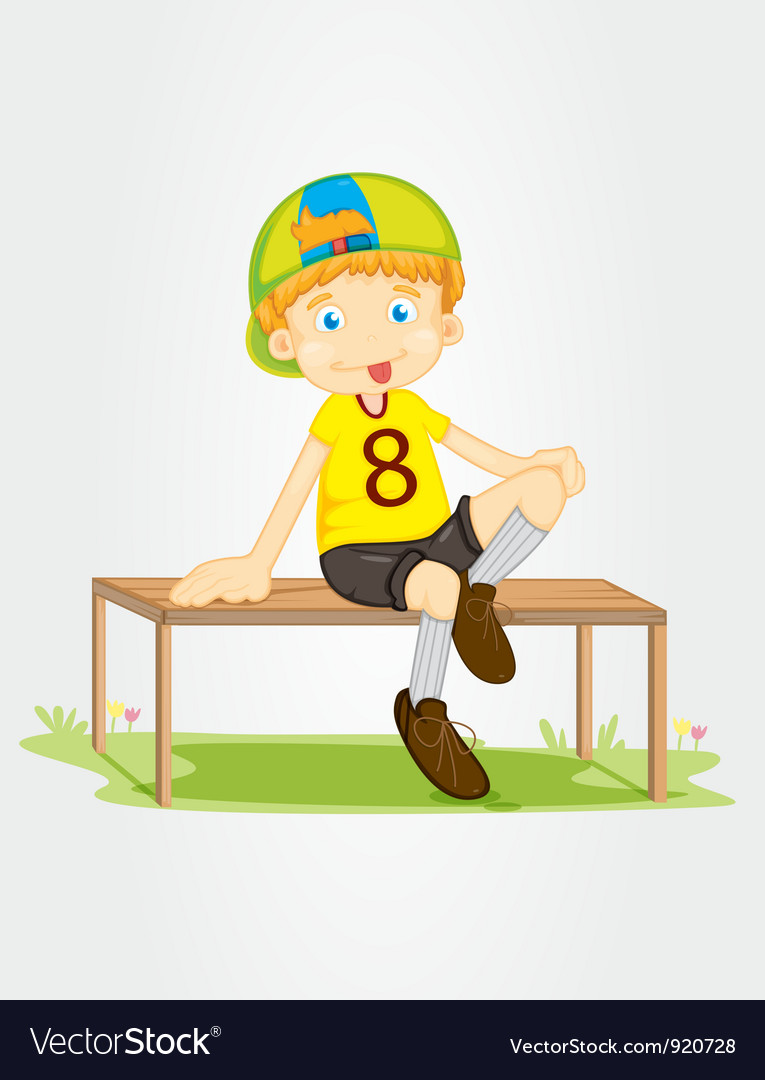 Sitting on a bench vector | Price: 3 Credit (USD $3)