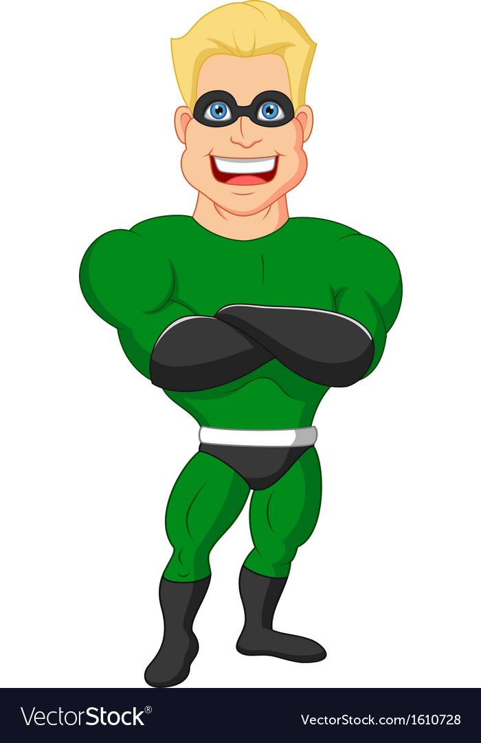 Superhero cartoon posing vector | Price: 1 Credit (USD $1)