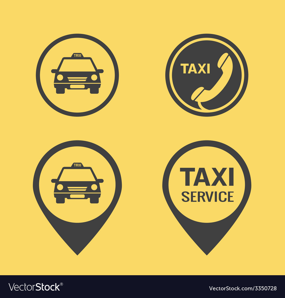Taxi icons and pointers vector | Price: 1 Credit (USD $1)