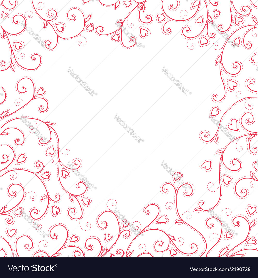 Vintage red background with hearts vector | Price: 1 Credit (USD $1)