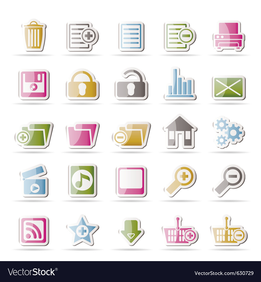 25 detailed internet icons vector | Price: 1 Credit (USD $1)