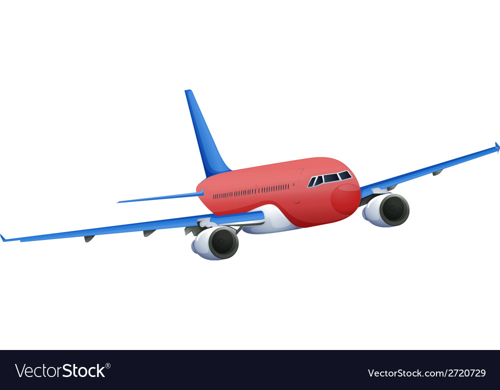 A red plane vector | Price: 1 Credit (USD $1)