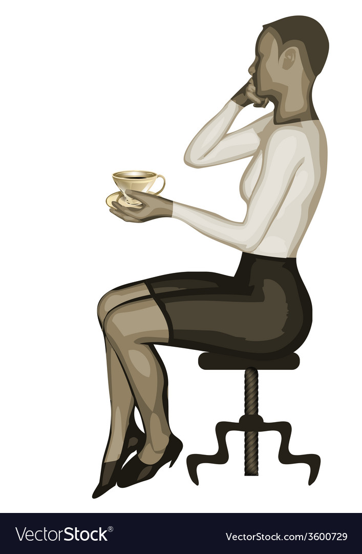 Business woman and coffee vector | Price: 1 Credit (USD $1)