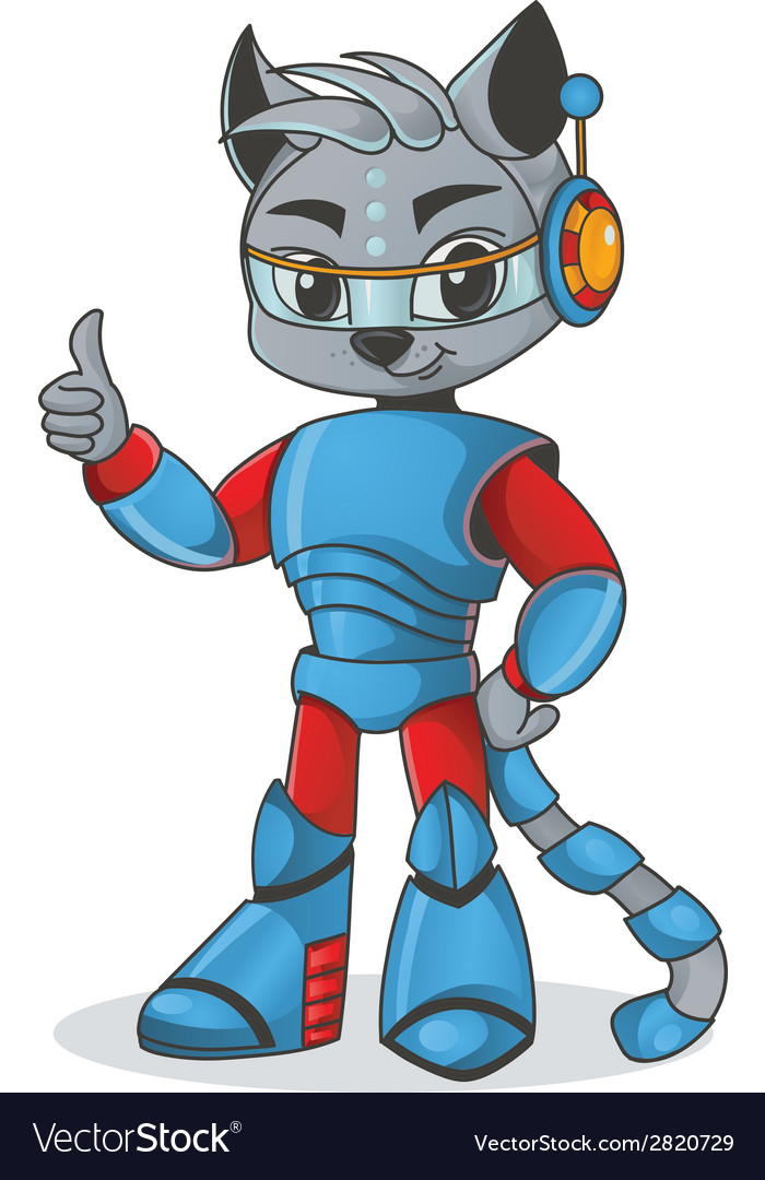 Cat robot vector   Price: 1 Credit (USD $1)