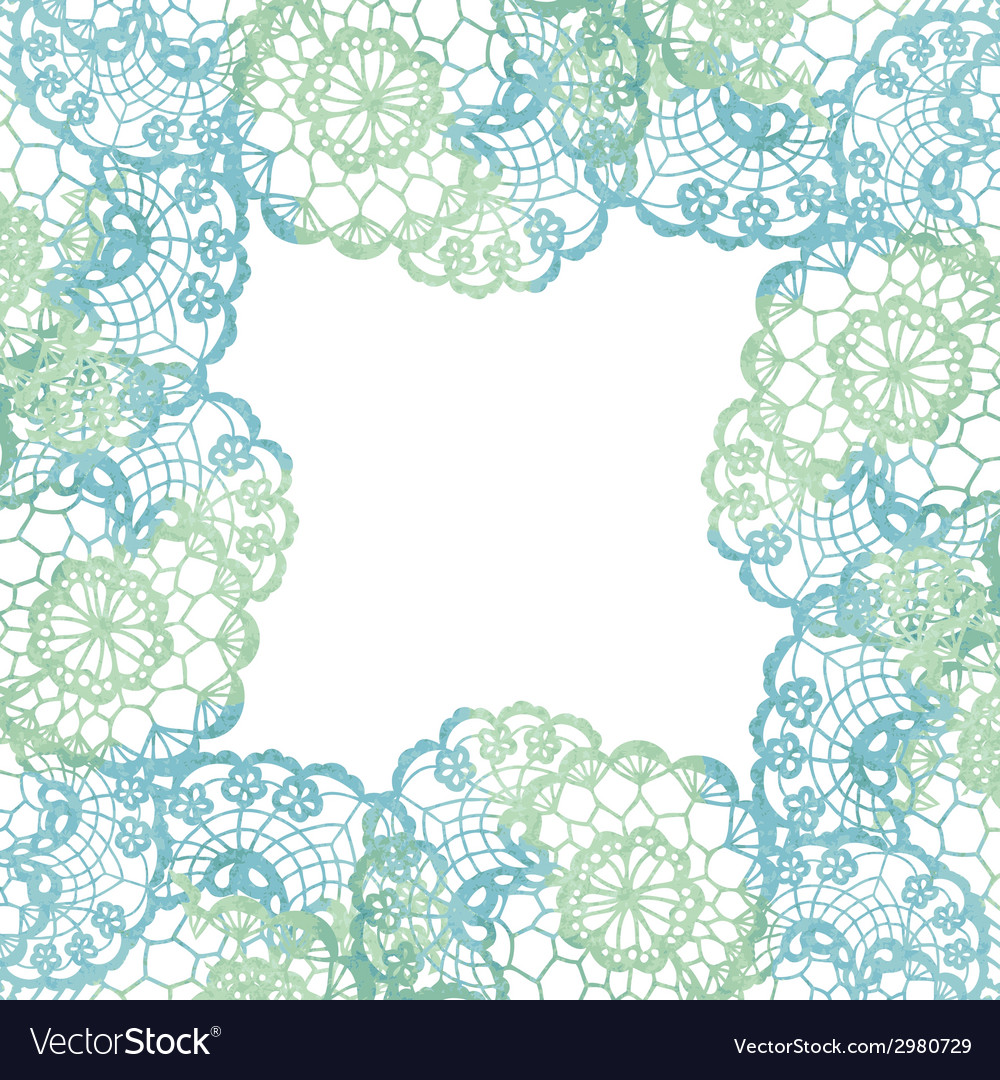 Lacy elegant frame invitation card vector | Price: 1 Credit (USD $1)
